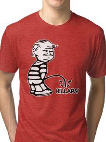 Funny Trump vs Hillary Tri-blend T-Shirt