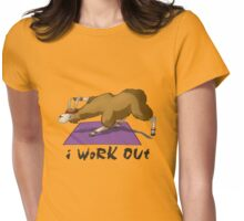 Workout Llama Womens Fitted T-Shirt