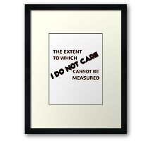 The Extent Framed Print