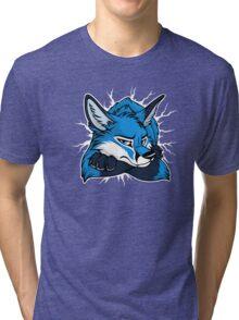 STUCK - Blue Fox / Fuchs (dark backgrounds) Tri-blend T-Shirt
