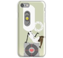 glaDOS+companion cube iPhone Case/Skin