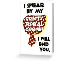 Pretty Floral Bonnet Greeting Card
