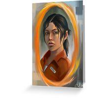 chell (portal 2) Greeting Card
