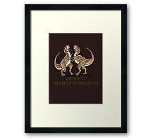the dinosaurs of war Framed Print