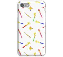 Sailor Moon Crystal Transformation Items on white background iPhone Case/Skin