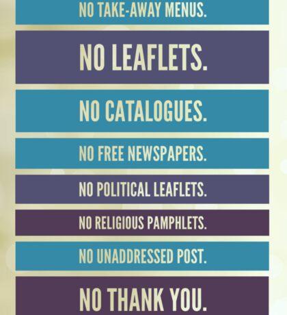 No leaflets Sticker