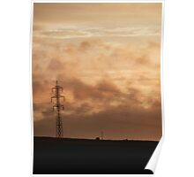 Electrical Sunset Poster