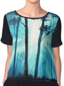 Forest sunrays Chiffon Top