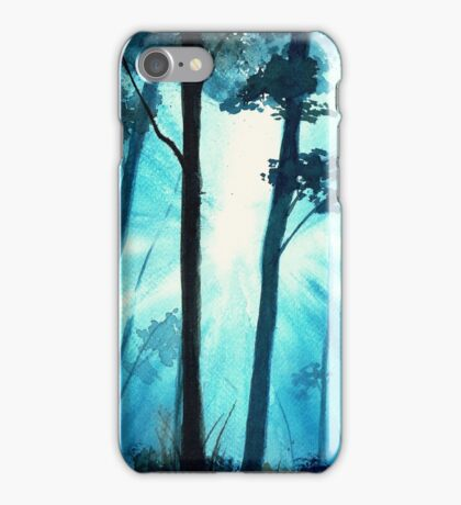 Forest sunrays iPhone Case/Skin