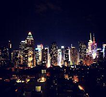 New York City By Night by George Dambassis