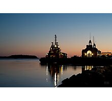 Cape Cod Canal Sunset Photographic Print