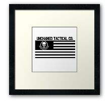 Unchained Tactical Co. Flag Framed Print