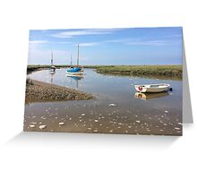 Blakeney Boats  Greeting Card