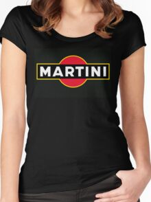 Martini Logo Women's Fitted Scoop T-Shirt