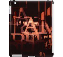 TYPE GRAPHIC iPad Case/Skin