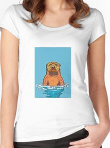 River Otter Women's Fitted Scoop T-Shirt
