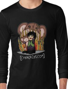 Carnikids: Corby Monkey Shirt Color (Dark) Long Sleeve T-Shirt