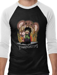 Carnikids: Corby Monkey Shirt Color (Dark) Men's Baseball ¾ T-Shirt
