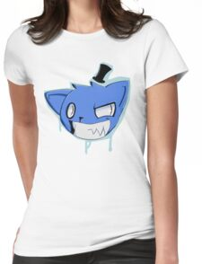 Blue hat boi Womens Fitted T-Shirt