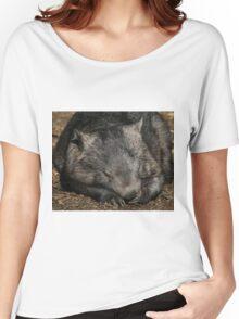 Sleeping Wombat Women's Relaxed Fit T-Shirt