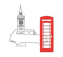 London Icons No.3 by Leona Hussey