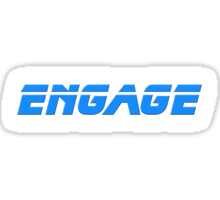 Star Trek - Engage - Captain Picard T-Shirt Sticker