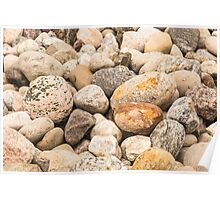 Rocky stones and pebbles Poster