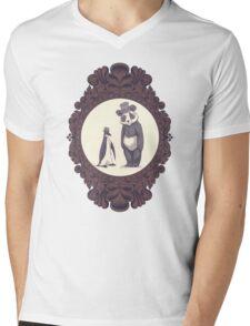 Charles and Darwin Mens V-Neck T-Shirt