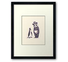 Charles and Darwin Framed Print