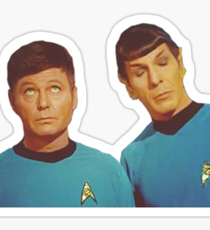 Spock and McCoy Sticker