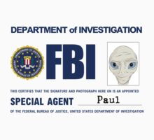 Paul the Alien's FBI ID One Piece - Short Sleeve