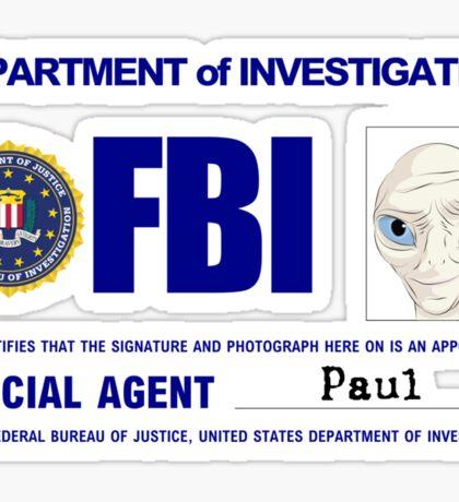 Paul the Alien's FBI ID Sticker