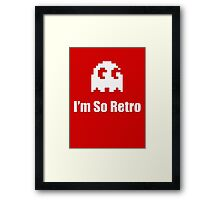 I'm So Retro - Atari - 80s Computer Game - Pacman T-Shirt Framed Print