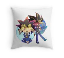 Yugi and Yami Throw Pillow