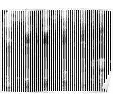 Cloud3frameD -L- White&Black Poster