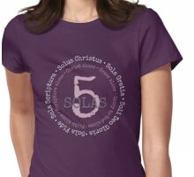 5 Solas of the Reformation Womens Fitted T-Shirt
