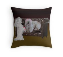 DOGS - CANINES & CULERS - CURLING HAIR FUN THROW PILLOW & TOTE BAG Throw Pillow