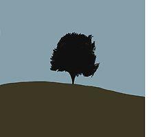 Tree On Hill - Six Feet Under by Crystal Friedman
