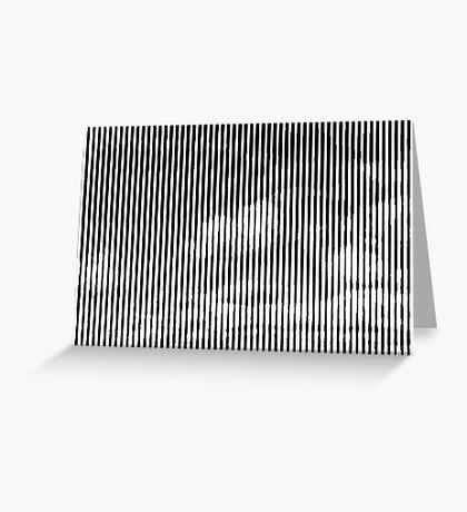 Cloud3frameD -C- White&Black Greeting Card