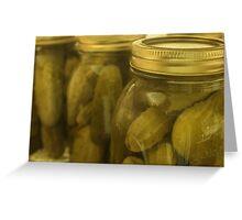 Garlic Dill Pickle Greeting Card