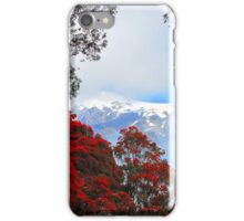 Red Blossoms and glaciers iPhone Case/Skin