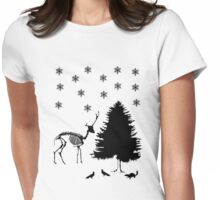 Winter Wildlife Womens Fitted T-Shirt
