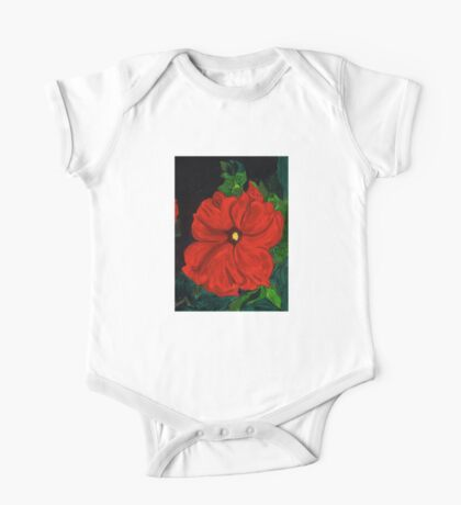 Hot Red Petunia One Piece - Short Sleeve
