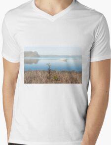 Mist on Smith Lakes Mens V-Neck T-Shirt