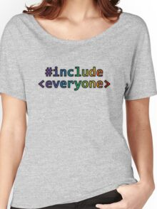 GEEKS FOR PEACE - #INCLUDE EVERYONE Women's Relaxed Fit T-Shirt