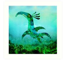 Childhood Dragons - the Sea Serpent Art Print