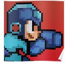 Megaman 8bit Halftone Poster