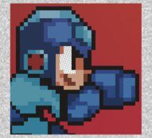 Megaman 8bit Halftone by innergeekdesign