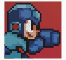 Megaman 8bit Halftone Kids Clothes