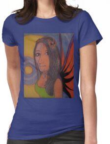 Hendersun Butterfly Fairy  Womens Fitted T-Shirt